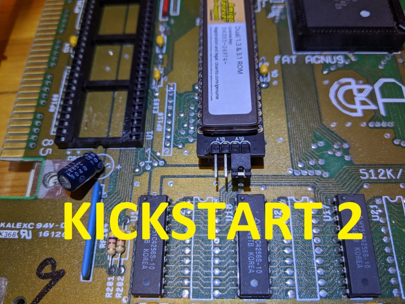 Details about New Licensed Dual Double Kickstart ROM 1 3 & 3 1 Amiga 500  600 2000 Switch #567